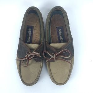Timberland Size 5M Leather Boat Neck Loafers